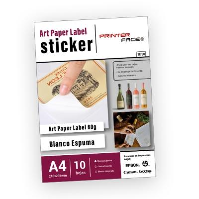 Art Paper Sticker Blanco Espuma X10